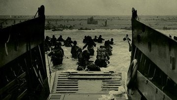 A photo of D-day deployment